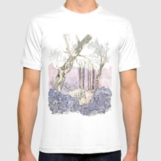 1/3 Magic Feral Woods Mens Fitted Tee MEDIUM White