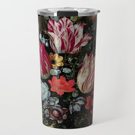 """Andries Daniels and Frans Francken the Younger """"Vase with Tulips"""" Travel Mug"""