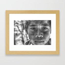 Across the screen Framed Art Print