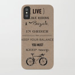 Life is like riding craft iPhone Case