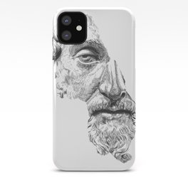 MARCUS AURELIUS ANTONINUS AUGUSTUS / black / white iPhone Case