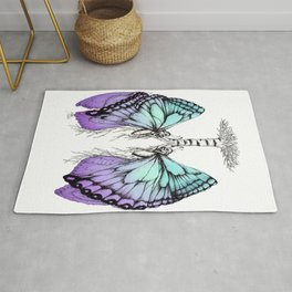 Butterfly Lungs Blue Purple Rug