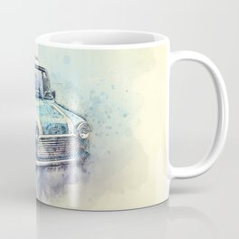 Classic Mini rallying in the dust Coffee Mug