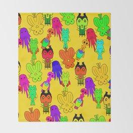 Yellow Clown Throw Blanket
