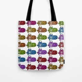Rainbow With Teeth Tote Bag