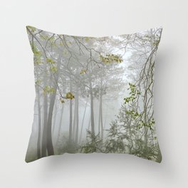 Dream forest. Sierras de Cazorla, Segura y Las Villas Natural Park. Square Throw Pillow