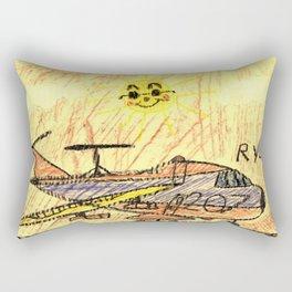 Commercial Cargo Plane Rectangular Pillow