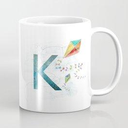 K is for Kite - Letter K Monogram Coffee Mug