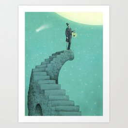 Moon Steps Art Print