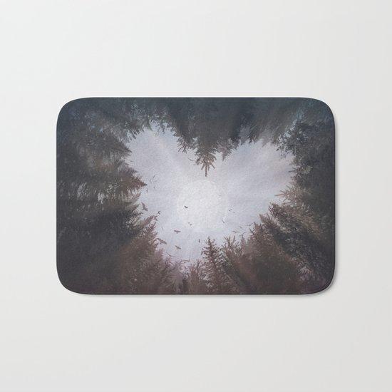 forest nature heart Bath Mat