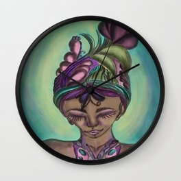 The butterfly lady Wall Clock