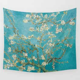 Vincent Van Gogh's Branches of an Almond Tree in Blossom Wall Tapestry
