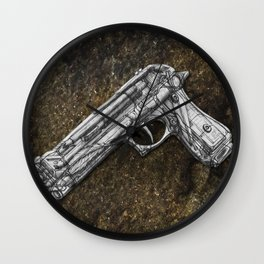 """Weapons Of Mass Construction - Gun Filled With """"Creativity-Tools"""" Wall Clock"""