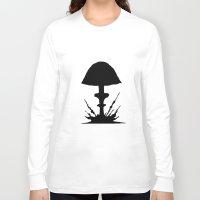 mushroom Long Sleeve T-shirts featuring Mushroom by Kristijan D.