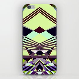 SWEEPING LINE PATTERN I-E4A iPhone Skin