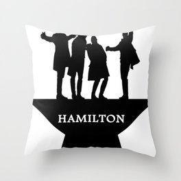 hamiton musical quote Throw Pillow