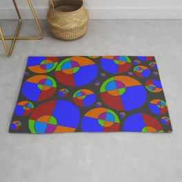 Bubble red & blue 09 Rug