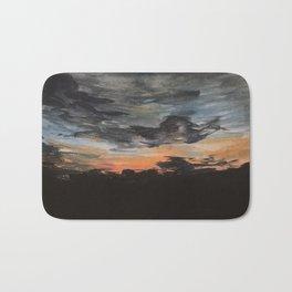 Sunset Over the Fields Bath Mat