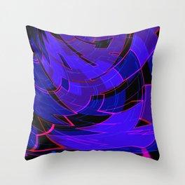 Electronic Dance Floor Throw Pillow