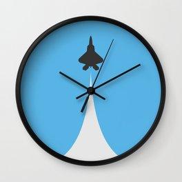 Fighter Jet Ascending - Vector Wall Clock
