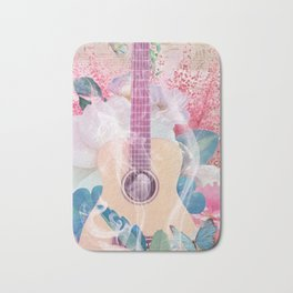 Floral Guitar Bath Mat