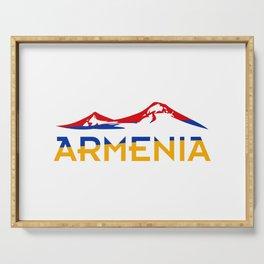 Armenia Ararat Hayastan flag #society6 #decor #buyart #artprint Serving Tray