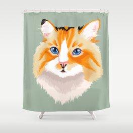 Chimera Tortie Cat Shower Curtain