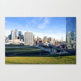 A Green Skyline Canvas Print