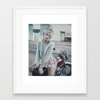 motorcycle Framed Art Prints featuring Motorcycle by Laura Preston