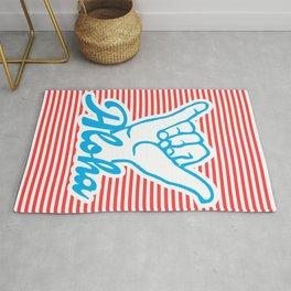 Aloha, Shaka Hand, red version, summer poster Rug