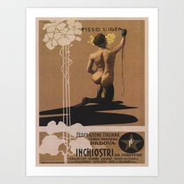 Vintage poster - Fisso l'Idea Art Print