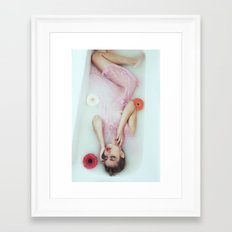 Floral bath Framed Art Print