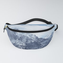 Snowy Mountain Peaks Fanny Pack