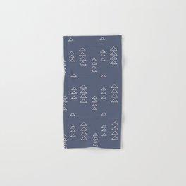 Modern Minimalist Triangle Pattern in Slate Blue Hand & Bath Towel