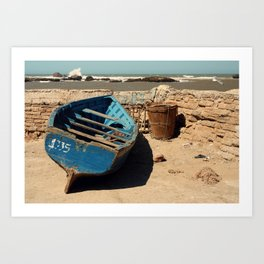 Boat & Barrel Art Print