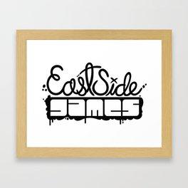 ESG Logo - Plain Black Framed Art Print