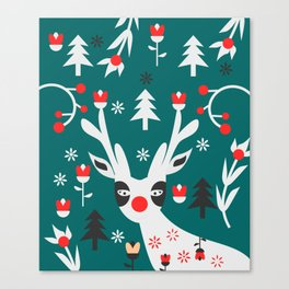 Merry Christmas reindeer Canvas Print