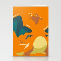 charizard Stationery Cards featuring Charizard by Rebekhaart