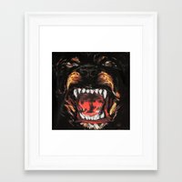 givenchy Framed Art Prints featuring Givenchy Dogface by Beauti Asylum