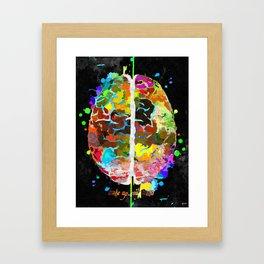Human Brain Black Framed Art Print