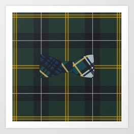 Plaid on Plaid Art Print