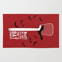 fear and loathing Area & Throw Rugs featuring Fear and Loathing by badOdds