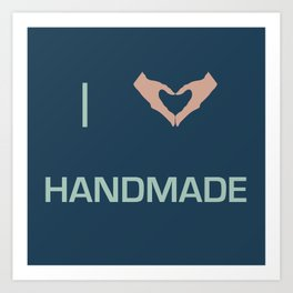 I heart Handmade Art Print