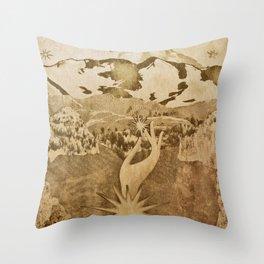 Goddess Lithograph Throw Pillow