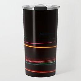 Abstract Motion Lights Travel Mug