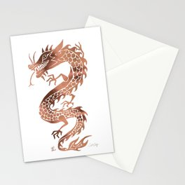 Chinese Dragon – Rose Gold Palette Stationery Cards