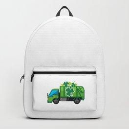 Clover Truck St Patricks Day Full Green Shamrock Backpack