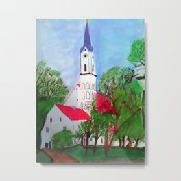 Kirche von Ergolding Metal Print