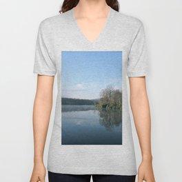 Reflective Lake Unisex V-Neck