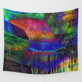 Rainbow Raven Wall Tapestry